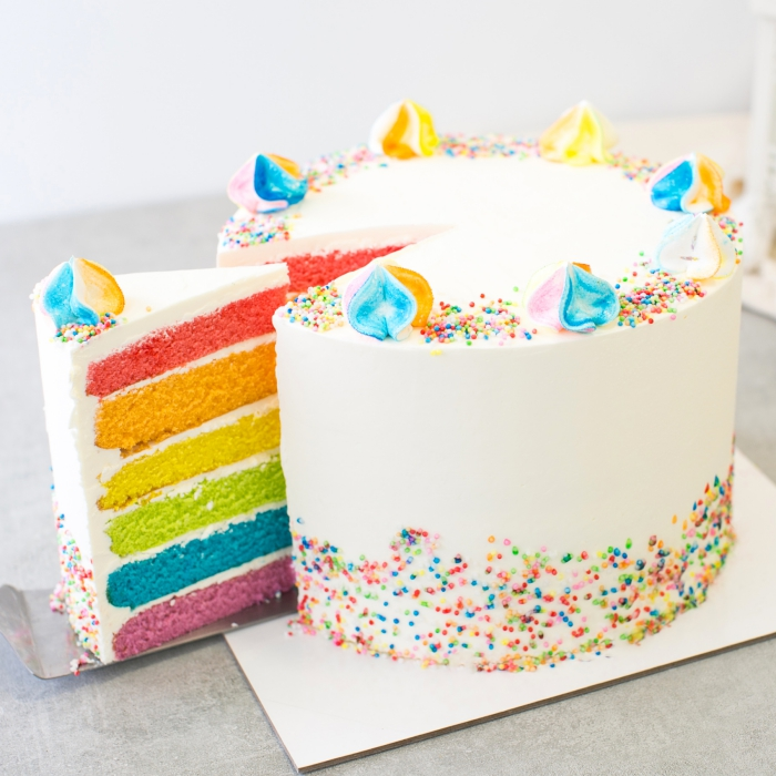 Glacage Rainbow Cake Au Chocolat
