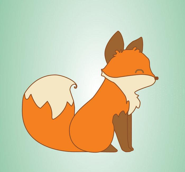 Dessin mignon renard facile dessin de glace adorable image à dessiner lignes droites