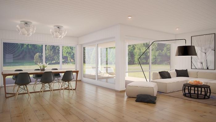 Décoration intérieure salon aménager un salon en longueur luxueuse maison