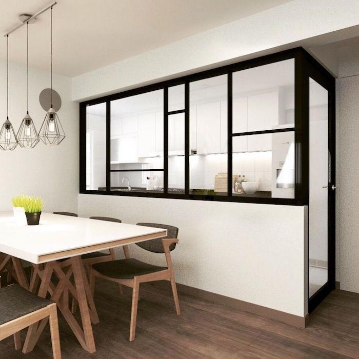 verriere cuisine ouverte simple cuisine ouverte sur sejour emejing maison cuisine ouverte. Black Bedroom Furniture Sets. Home Design Ideas