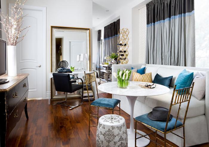 Idée couleur salon aménager un salon en longueur cool déco à faire bleu et blanc