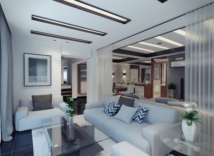 Décoration d'intérieur moderne idée déco studio deco appartement cosy interieur