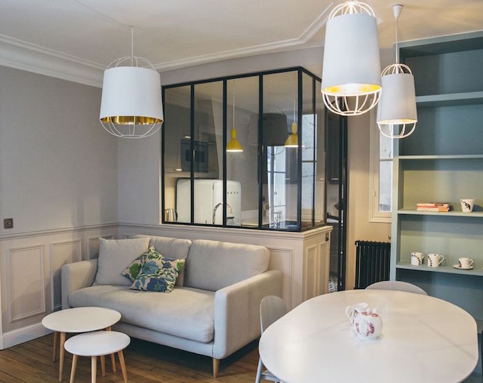 Ides  Sparation Cuisine Salon  Coulissez Une Porte Ouverte