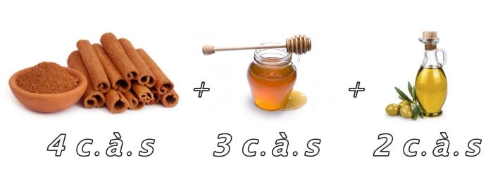 recette pour décoloration cheveux maison avec poudre de cannelle mélangée avec miel et huile d'olive, produits naturels pour soins cheveux