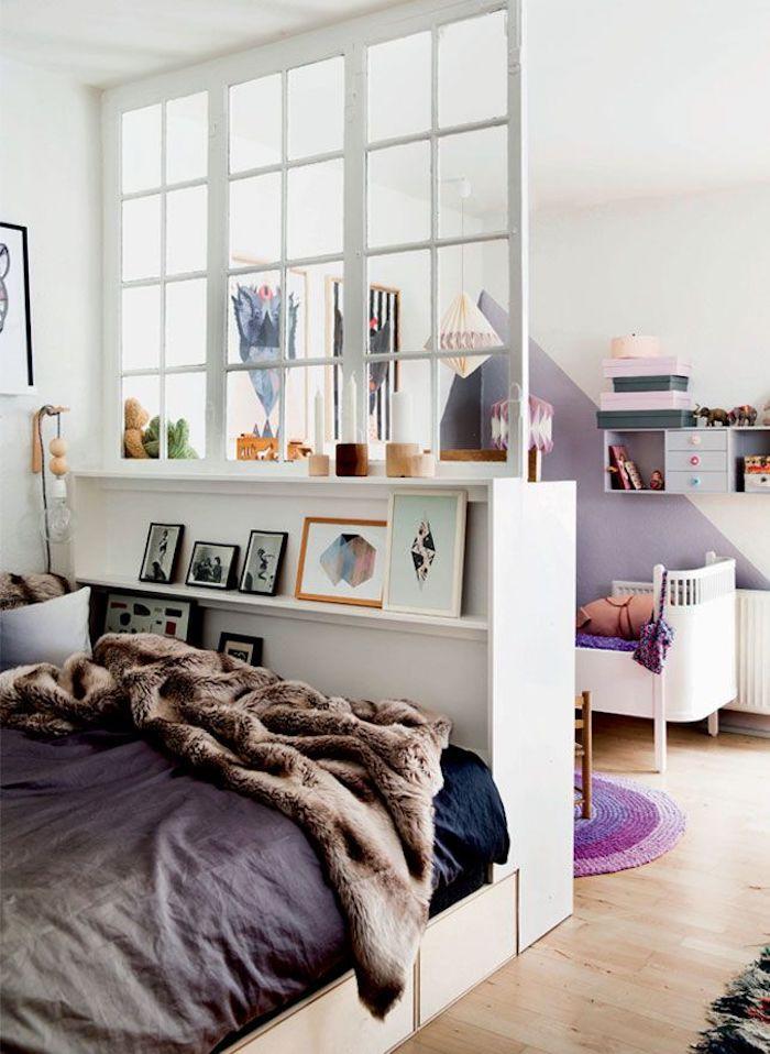 Aménagement petit studio idée déco studio ou deco appartement t1 aménagé chouette idée déco violet