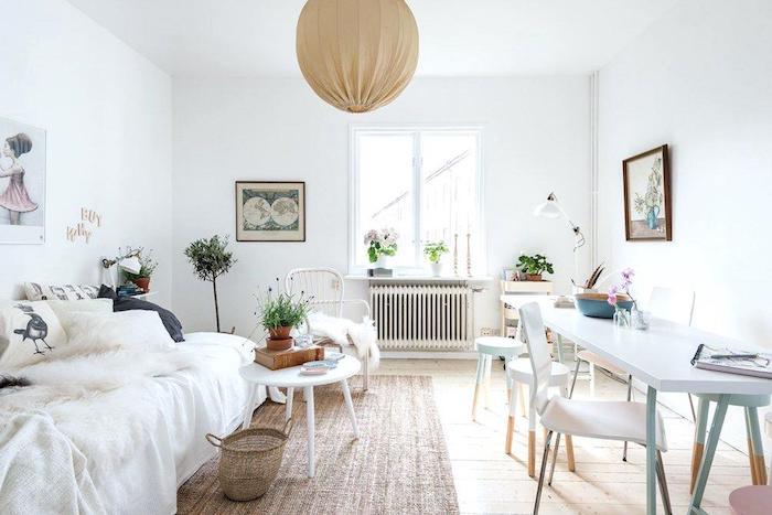 Décoration appartement étudiant appartement design chouette idee déco blanche