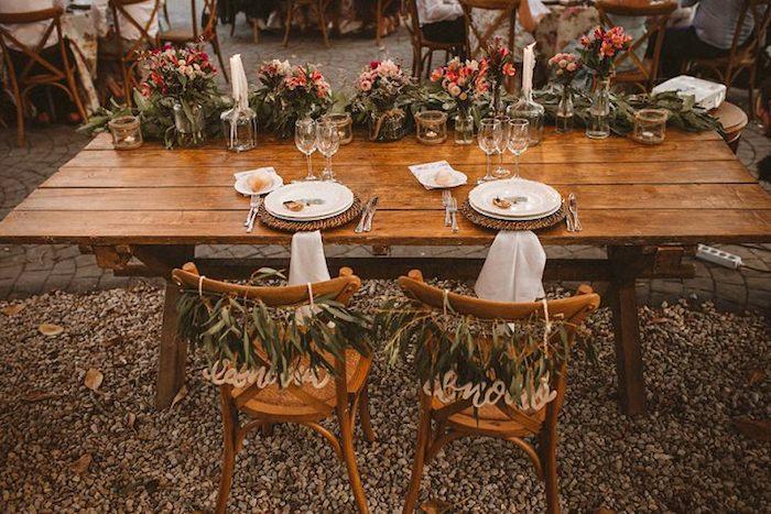 Menu mariage centre de table mariage décoration salle de mariage