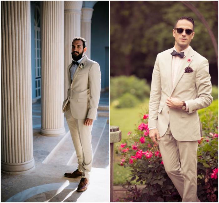 comment porter le costard mariage aux tons neutres, costume beige pour une vision élégante et décontractée