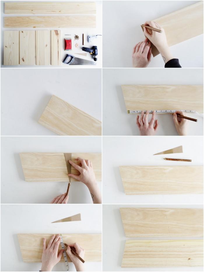 retrouvez toutes les étapes pour fabriquer soi-même une échelle etagere a bois pour ranger ses chaussures et ses accessoires