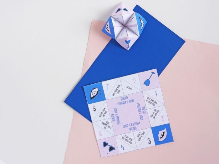 tuto pliage origami pour faire une cocotte en papier spécial fête des mères avec de petits messages à l'intérieur
