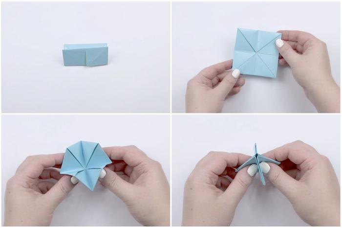 les étapes de pliage origami facile pour faire une cocotte en papier soi-même