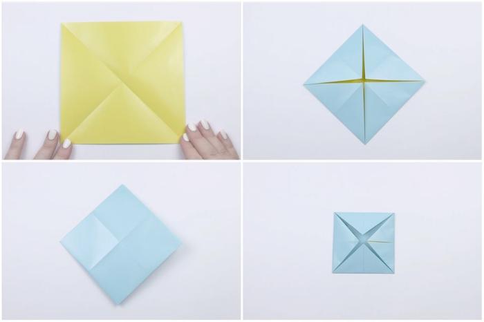 comment faire une cocotte en papier traditionnelle en suivant les étapes de pliage origami facile