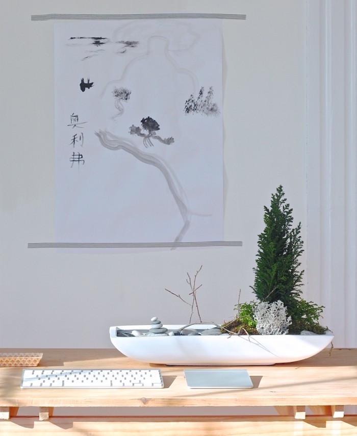 tutoriel jardin zen japonais miniature design blanc pour bureau