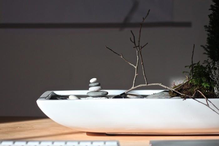 tuto pour créer un jardin japonais miniature design d'intérieur pour bureau