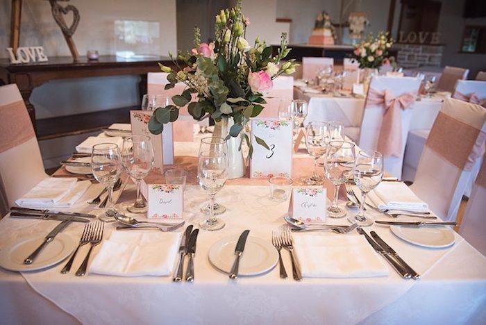 Deco table mariage champetre centre de table mariage déco simple et élégante