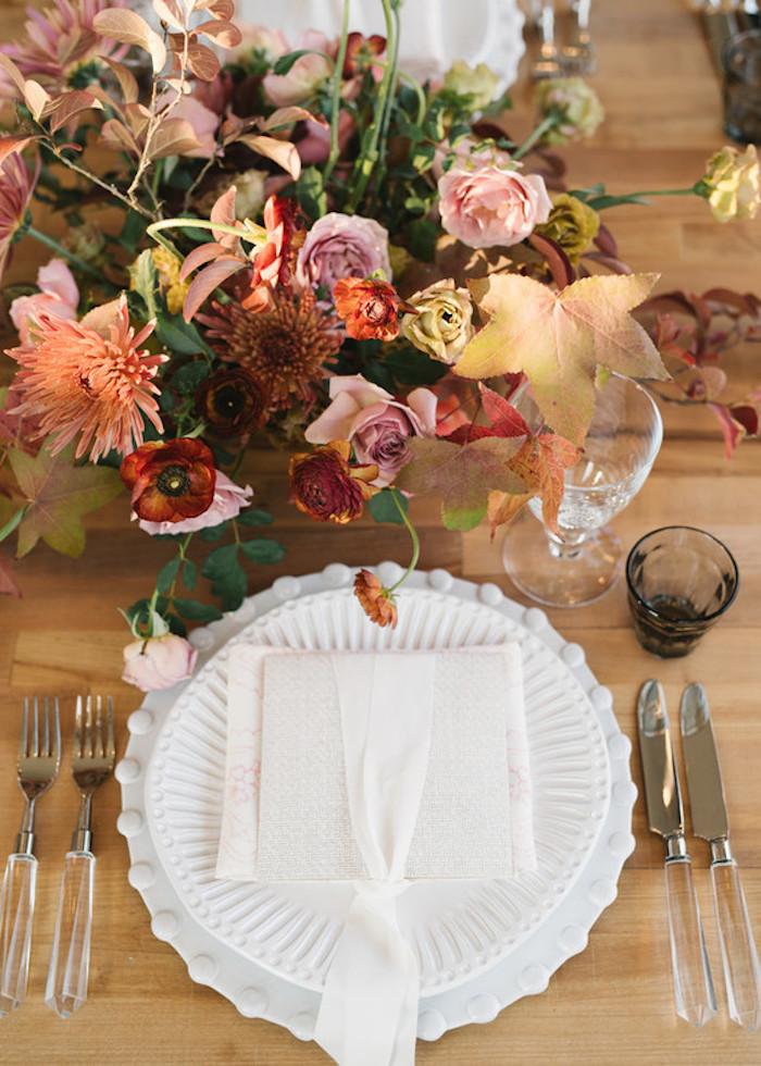 Idee deco mariage fleurs pour le centre de table mariage idée déco mariage chic