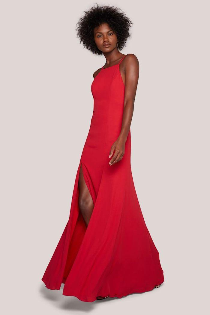 Robe mariage invité être bien habillée à un mariage ceremnie spéciale occasion rouge robe longue