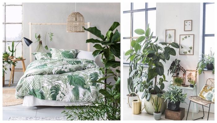 Couleur idéale pour chambre adulte chambre parentale moderne couleur mur chambre couleur chambre à coucher palmes thème tropique