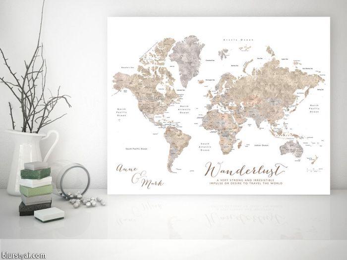 Idée cadeau copain cadeau personnalisé homme quel cadeau choisir un plan de monde à gratter