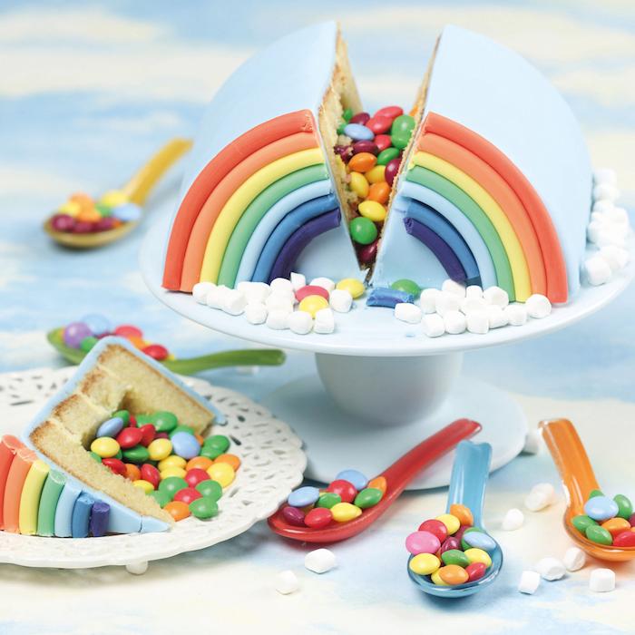 Idée design gateau anniversaire fille adorable idée de gâteau mignon pour un enfant arc en ciel