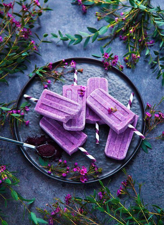 Recette glace sorbetiere recette glace fraise glace maison sans sorbetière bâtonnet violet fleurs de champ