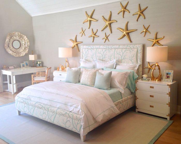 Tapisserie chambre adulte couleur peinture chambre maison moderne féminine chambre à coucher gris et bleu