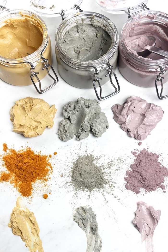 masque maison visage à l'argile pour chaque type de peau, soin naturel pour le visage à base d'argile