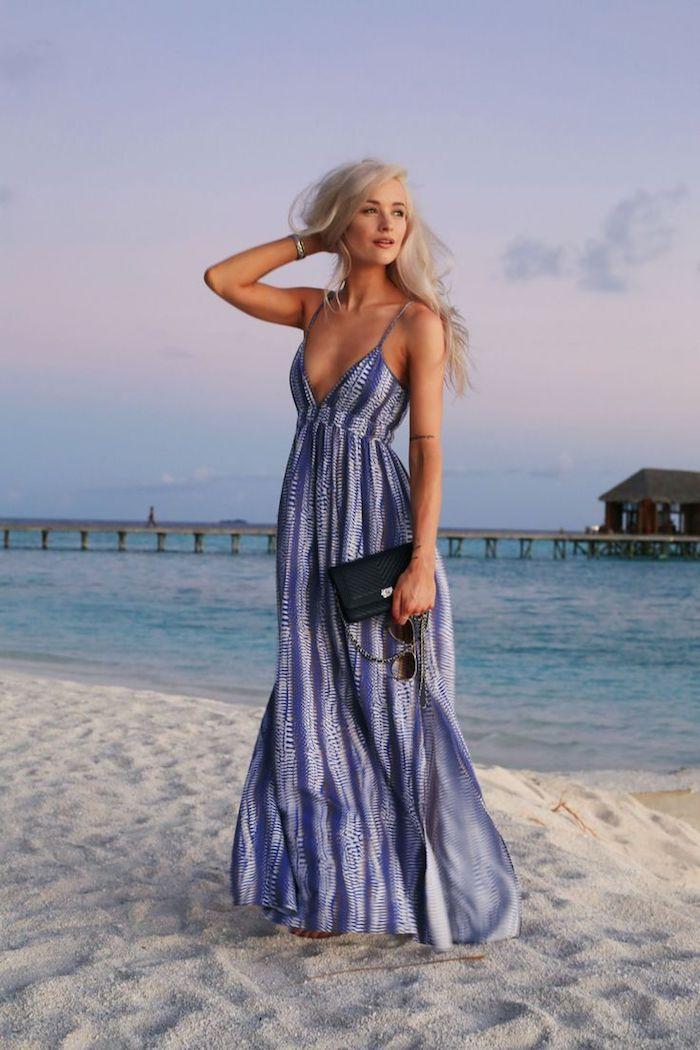 Belle robe longue été pas cher robe longue boheme les robes longues hippie chic vacances d'été robe de plage