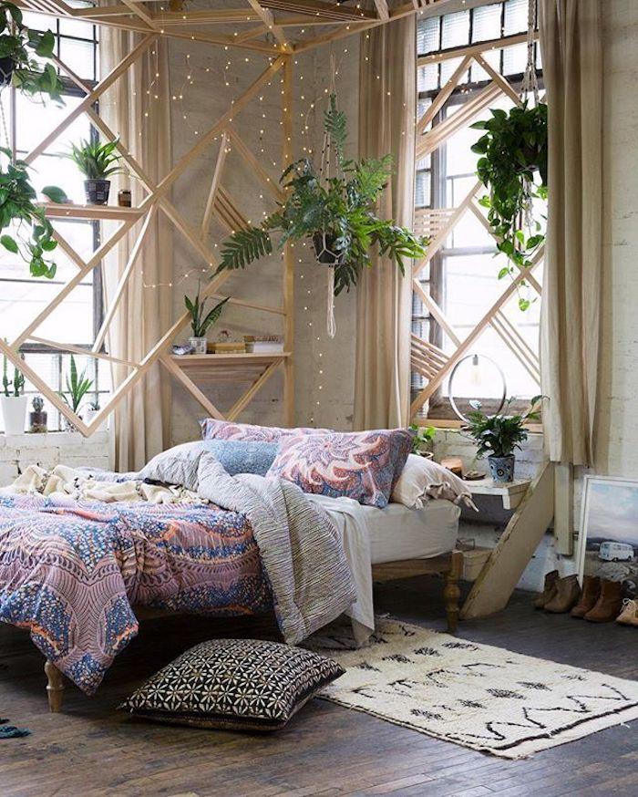 Chambre bleu gris couleur idéale pour chambre adulte déco chambre scandinave bois intérieur meubles etn bois