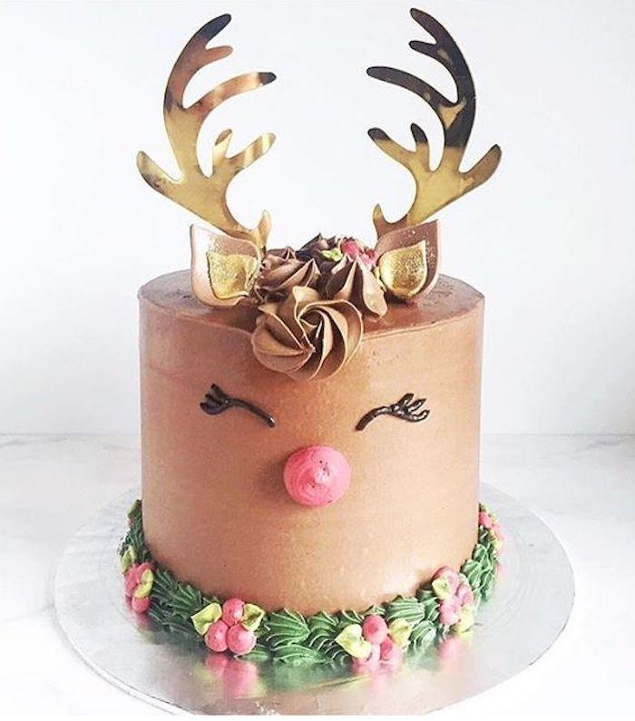 Enfant qui aime gateau anniversaire garcon dessert facile et rapide crème saveur chouette cerf mignon