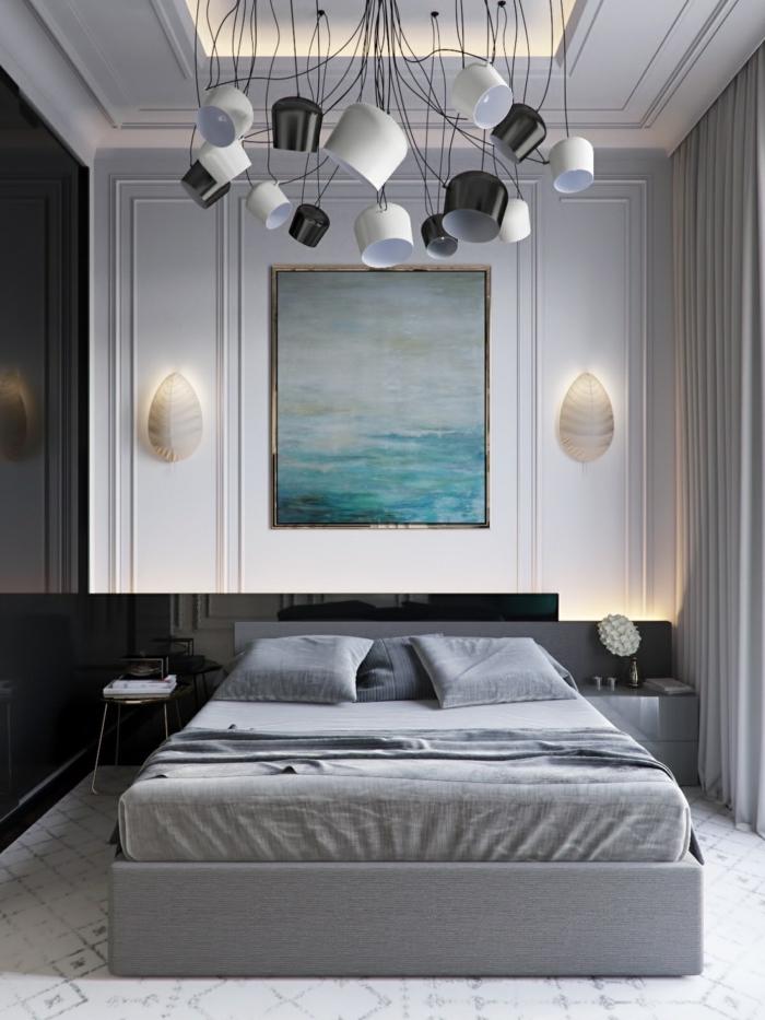 Couleur idéale pour chambre adulte couleur peinture chambre choisir les couleurs gris noir et bleu