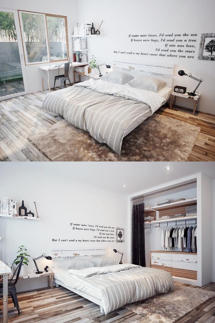 Chambre blanche scandinave déco couleur peinture chambre couleur mur chambre nuances cool idée déco simple