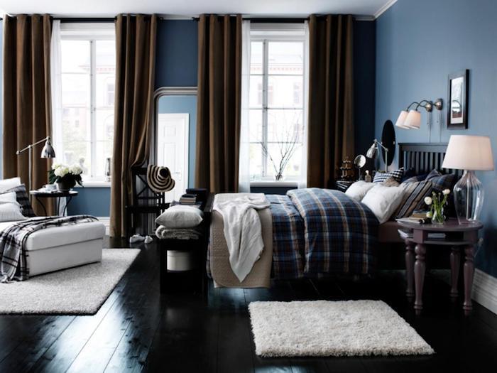Idée couleur chambre couleur peinture chambre à coucher adulte couleur dormir cosy fonctionnelle déco