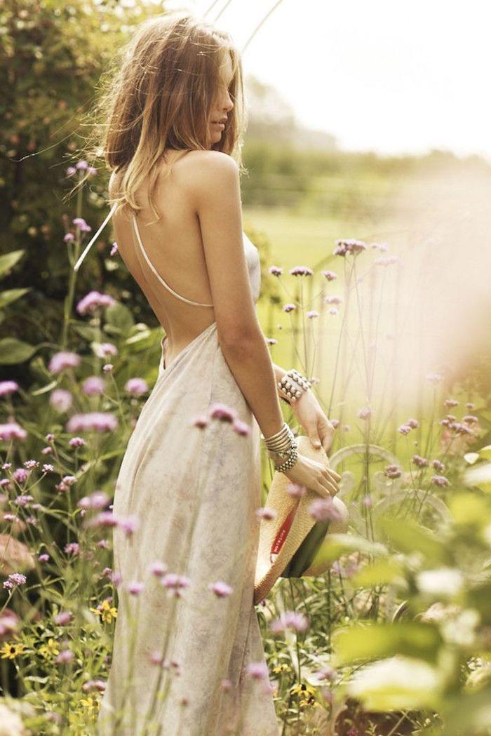 Bohème robe fluide longue robe longue boheme robe de plage longue idée blanche robe bohème magnifique