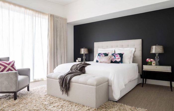 Tendance couleur 2018 couleur peinture chambre comment associer les couleurs fleurs détails mur bicolore