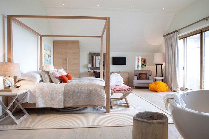 Couleur mur chambre couleur peinture chambre bon assortiment de couleur nature lit en bois beau intérieur lux