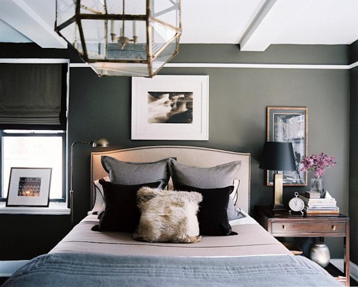 Couleur de peinture pour chambre idée couleur chambre look harmonieux décoration taupe mur