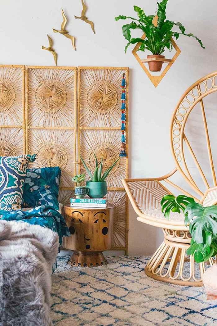 Aménagement chambre adulte idée couleur chambre thématique océan ou jungle bois déco originale vintage intérieur