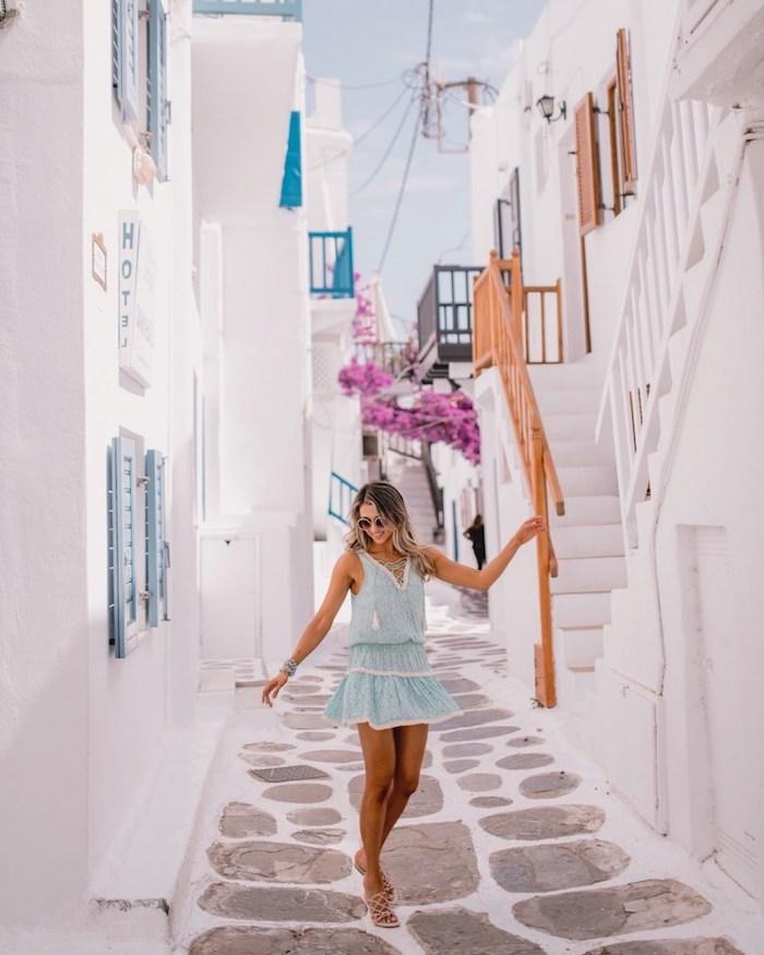 Robe de plage longue robe légère été chic idée pour l été robe confortable Santorini tenue vacances