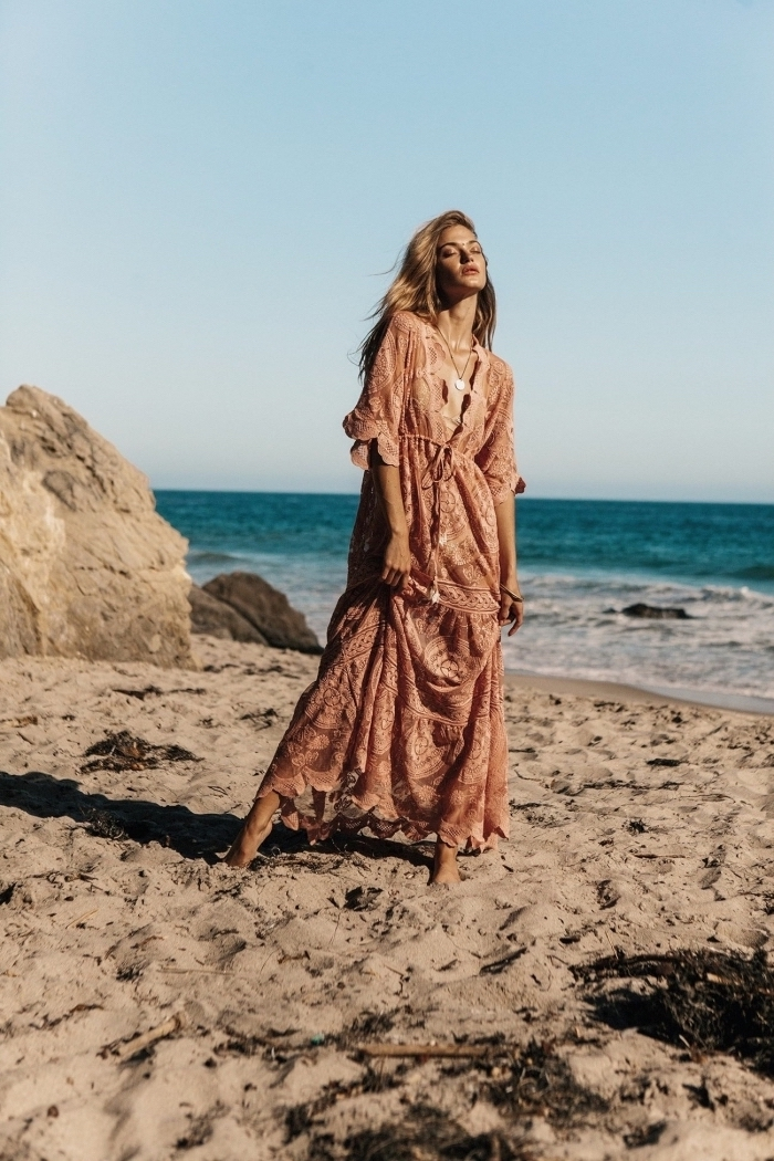 Robe longue moulante robe légère été femme s'habiller bien robe chic