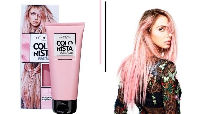 couleur l oreal rose pastel pour cheveux de base châtain ou blond, idée quel produit utiliser pour réaliser une coloration tendance