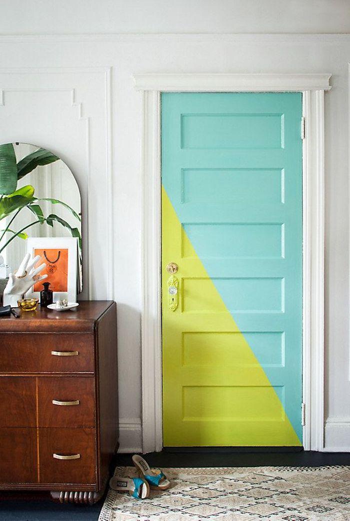 Chambre parentale moderne idée couleur chambre appartement aménagement chambre femme comment peindre une porte bicolore tendance