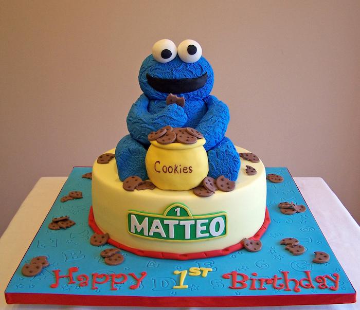 Adorable gateau facile et rapide recette gateau anniversaire aux fruits et crème frais cookie monstre adorable gateau