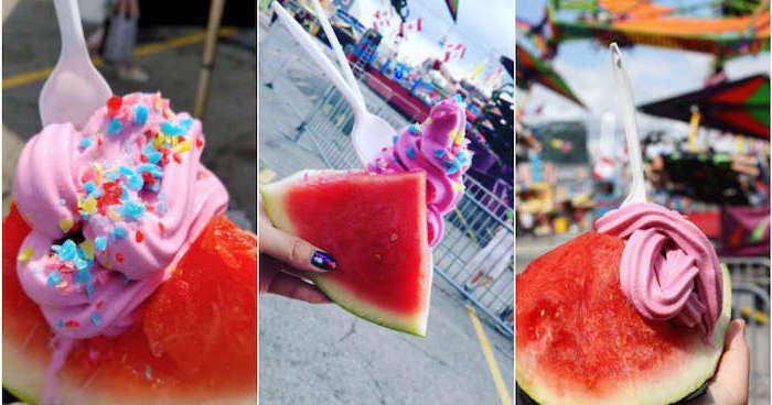 Glace fraise sans sorbetière comment faire de la glace diy en images pas à pas cool idée comment le manger dans un pièce de pastèque