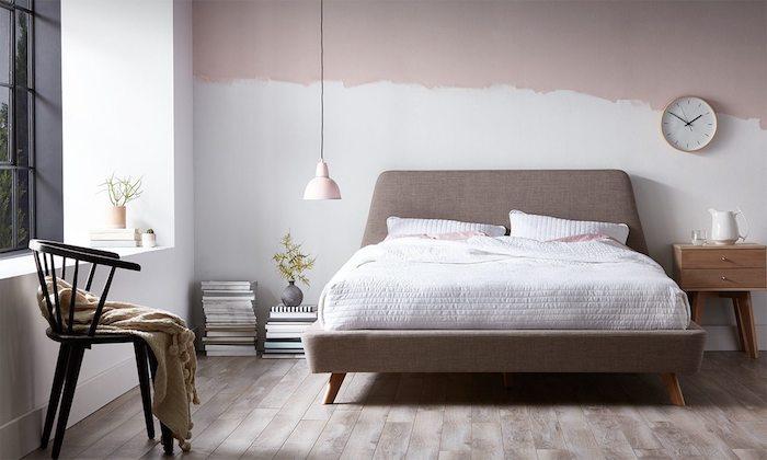 Décoration peinture salon tendance couleur 2018 idée de decoration simple et élégante scandinave déco peinture mur industrielle qui semble infinie