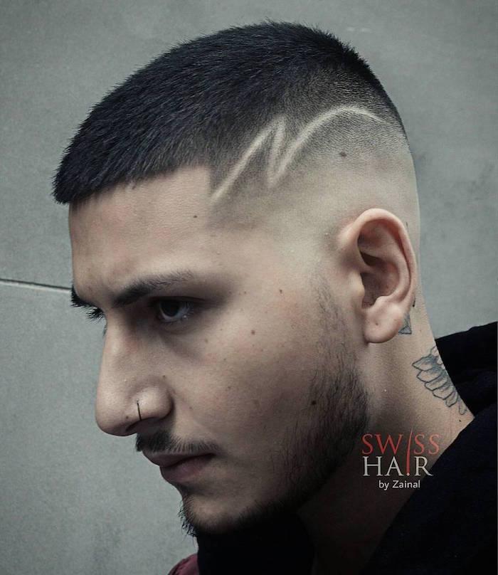 Coupe de cheveux homme eclair