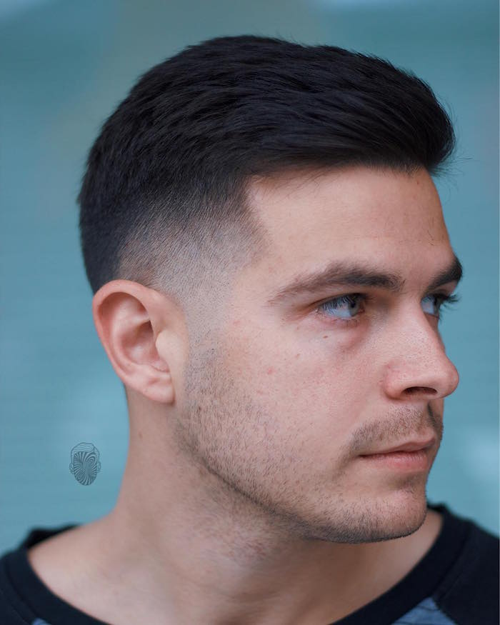 Exemple coiffure homme cheveux courts