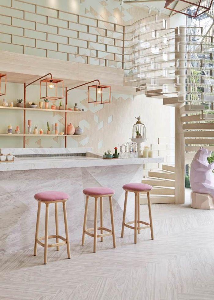 Rose poudré peinture cuisine roses chaises rose poudré associé avec rose gold intérieur rose poudré mignon
