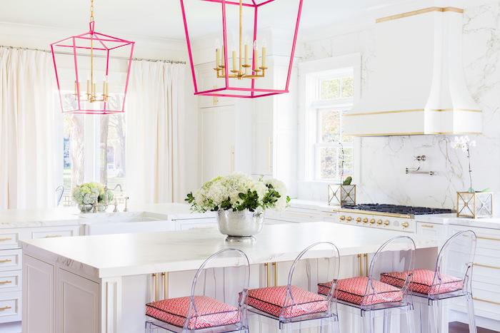 Cuisine roses détails vieux rose couleur chambre rose poudré décoration scandinave hygge style