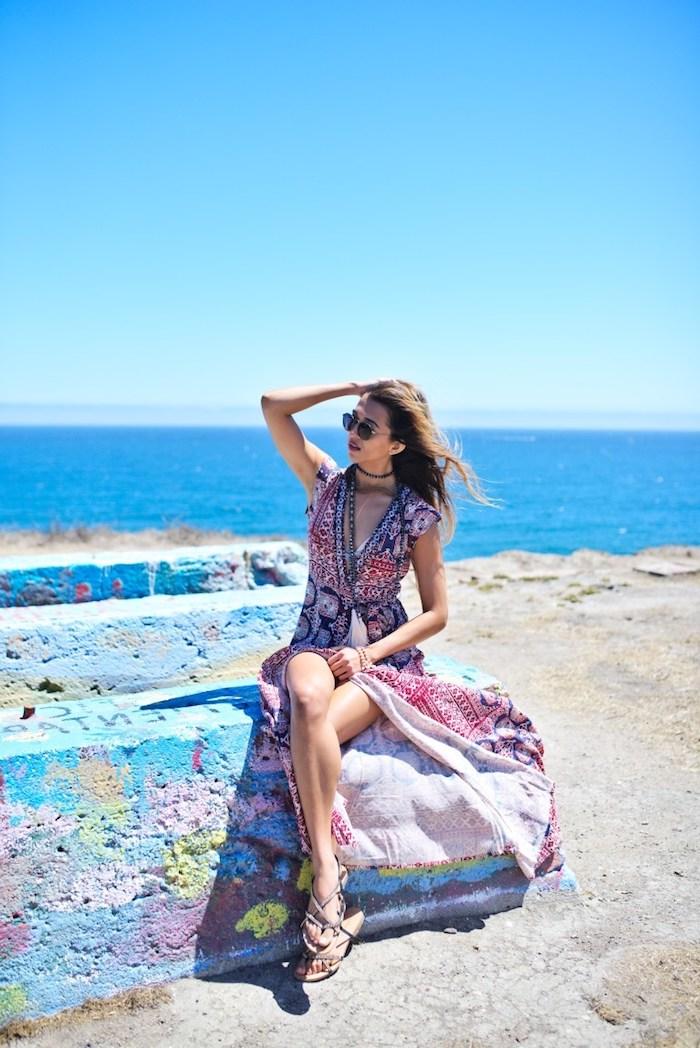 Robe de plage longue robe longue moulante comment porter des robes plage été robe longue fendue